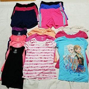 Other - 17 Piece Bundle of Shorts Shirts  Size 7/8 7Bundle